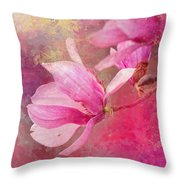 Pink Tulip Magnolia In Spring Throw Pillow