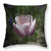 Pink Tulip Squared Throw Pillow