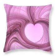 Pink Valentine Throw Pillow
