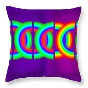 Pink Violet Throw Pillow