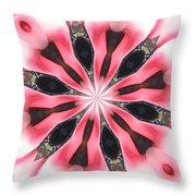 Pink White Petals Throw Pillow
