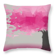 Pink Wind Throw Pillow