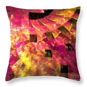 Pink Windows Throw Pillow