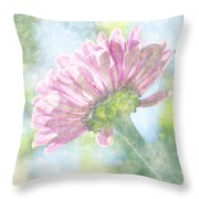 Pink Zinnia On Bokeh Background Throw Pillow