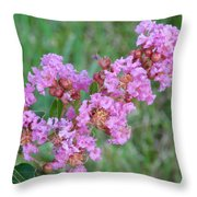 Pinkish Red Flower Bloom Close Up Throw Pillow