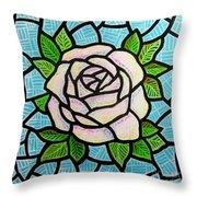 Pinkish Rose Throw Pillow