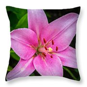 Pinkly Yours Throw Pillow