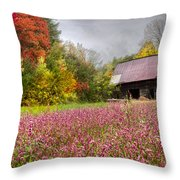 Pinks In The Pasture Throw Pillow