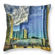 Pinnacle Building Sunset Nashville Shadows Nashville Tennessee Art Throw Pillow