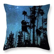 Pinnacle Of The Forest  Throw Pillow