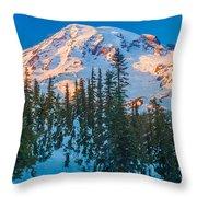 Pinnacle Saddle Winter Throw Pillow