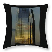 Pinnacle Sunset Reflection Throw Pillow