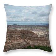 Pinnacles Overlook Panorama  Throw Pillow