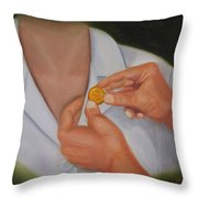 Pinning A Tradition Of Nursing Throw Pillow