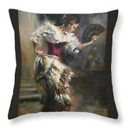 Pino D'angelico's The Dancer Throw Pillow