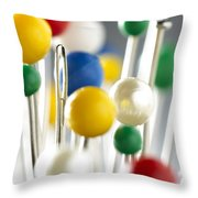 Pins And Needle Throw Pillow
