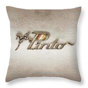 Pinto Car Badge Throw Pillow