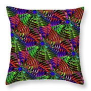 Pinwheel Red Throw Pillow