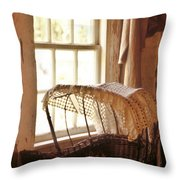Pioneer Baby Bassinet Throw Pillow