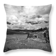 Pioneer Cabin Throw Pillow