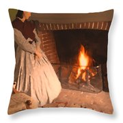 Pioneer Fire Impressions Throw Pillow