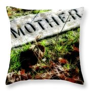 Pioneer Grave Throw Pillow