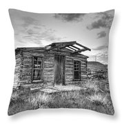 Pioneer Home - Nevada City Ghost Town Throw Pillow