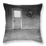 Pioneer Home Interior - Nevada City Ghost Town Montana Throw Pillow