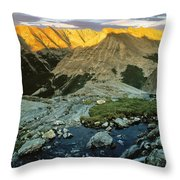 Pioneer Mountains Throw Pillow