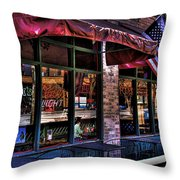 Pioneer Square Tavern Throw Pillow