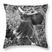 Pioneer Statue Throw Pillow