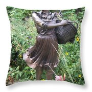 Pioneer Woman In Color Throw Pillow
