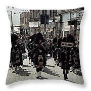 Pipe Band Highland Games Scotland Throw Pillow