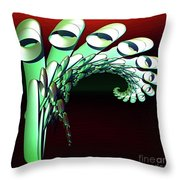 Pipe Curl Throw Pillow