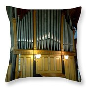 Pipe Organ Of Old Throw Pillow