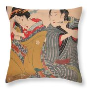Pipe Smokers 1835 Throw Pillow
