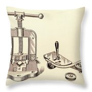 Pipe Vise Throw Pillow
