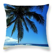 Pipeline Beach Throw Pillow