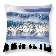 Pipeline Shadow Land - 2 Of 3 Throw Pillow