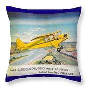 Piper Airplane  Throw Pillow