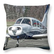Piper Pa28 I-cnpg Taxiing To The Runway Throw Pillow
