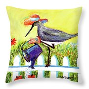 Piper With Water Can Throw Pillow