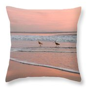 Pipers In Pink Throw Pillow