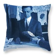 Pipes And Pinochle Throw Pillow