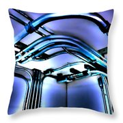 Pipes In Third Dimension Throw Pillow