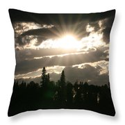 Piprell Lake Saskatchewan Throw Pillow