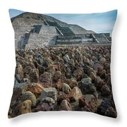 Piramide De La Luna Throw Pillow