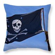 Pirate Flag Skull And Cross Bones Throw Pillow