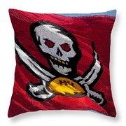 Pirate Football Throw Pillow