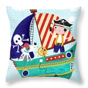 Pirate Of The Carribean Throw Pillow